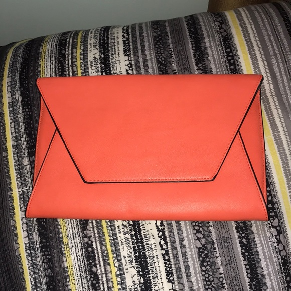 Neon orange medium sized clutch